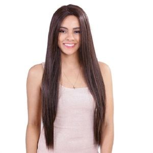 """Remy Hair 6"""" Deep Side Volume Lace Part Front Wig"""